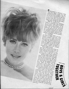 Lesley Gore - Teen Scoop - July 1967 - p61 60s Makeup, Hair Makeup, Lesley Gore, Vintage Magazines, Up Hairstyles, Rainbows, Sunshine, Make Up, Teen