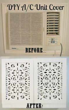 Air Conditioner Cover Indoor, Diy Air Conditioner, Ac Unit Cover, Diy Ac, Window Ac Unit, Window Ac Cover, Wall Unit Ac, Diy Home Decor, Home Improvement