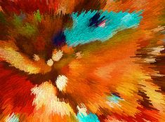Color Shock 1 - Vibrant Digital Painting by Sharon Cummings.