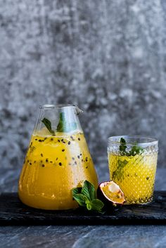 Passion Fruit Champagne – by Hein van Tonder, Awarded Cape Town based Food Photographer, Videographer & Editorial Stylist drink cocktail Fruit Drinks, Yummy Drinks, Beverages, Fruit Smoothies, Smoothie Recipes, Summer Cocktails, Cocktail Drinks, Cocktail Recipes, New Years Cocktails