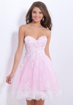 Beautifull Empire Sweetheart Tulle and Lace applique Beading Pink Prom Dress - Sweet 16 Dresses - Special Occasion Dresses Pink Prom Dresses, Sweet 16 Dresses, Grad Dresses, Dance Dresses, Pretty Dresses, Homecoming Dresses, Beautiful Dresses, Short Dresses, Bridesmaid Dresses