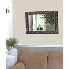 Bristol Wood Rectangle Mirror Howard Elliott Collection Rectangle Mirrors Home Decor