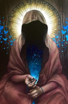 By Heather Mclean, The Kingdom of God is Within You (DMT), acrylic on board