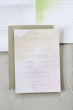 1x1.trans Elias + Nancys Watercolor Letterpress Wedding Invitations by Oh Happy Day