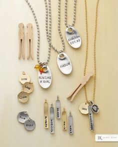 Hand-stamped Magnolia Metals are truly one-of-a-kind. Get your names, dates, inspirational words and wear them.