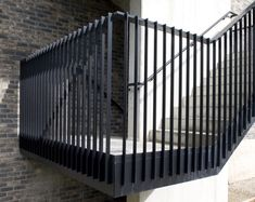 Staircase Outdoor, Interior Staircase, Staircase Design, Balustrade Design, Black Railing, Stair Handrail, Railings, French Balcony, Timber Battens