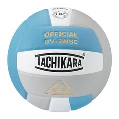Tachikara Official SV5WSC Microfiber Composite Leather Volleyball, Blue