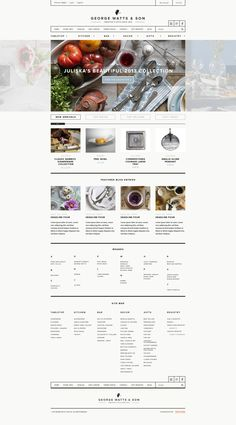 George Watts & Son site design by Owen Perry Web Design Mobile, News Web Design, Ux Design, Layout Design, Page Design, Branding Design, Flat Design, Packaging Inspiration, Website Design Inspiration