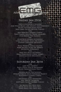 NAMM 2013: EMG Pickups Complete Artist Signing Schedule    Friday January 25th & Saturday January 26th  #4782, Hall C