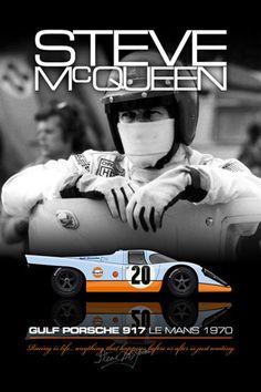 "Steve Mqueen Gulf Porsche 917......""LeMans""...was the best auto racing movie..till........"