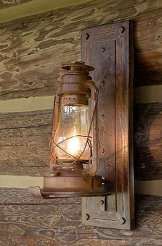 DIY Country Light Fixtures | Lighting Strategy from the Log Homes Council #LogHomeDecor