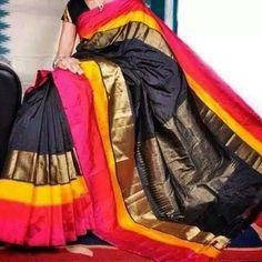 Pochampally ikkat pattu saree Price: 8500 #elegantfashionwear #pochampally #ikkat #pattusaree
