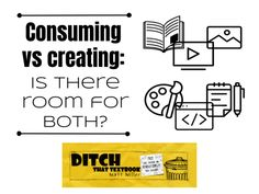 Consuming vs creating: Is there room for both? - Ditch That Textbook Creative Teaching, Sounds Like, Textbook, Students, How To Apply, Education, Learning, Create, Room