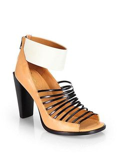3.1 Phillip Lim Dede Leather Sandal Ankle Boots