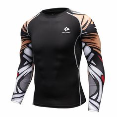 0a14ff270e18d Men's Bodybuilding Compression Shirt. Crossfit ShirtsWorkout  ShirtsCompression T ShirtLong Sleeve ...