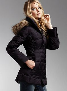 Side quilt puffer jacket