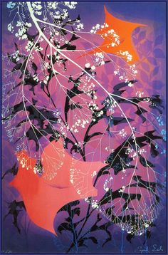 """""""Autumn Leaves"""" by Eyvind Earle.  Completion Date: 1982.  Place of Creation: United States.  Style: Magic Realism."""