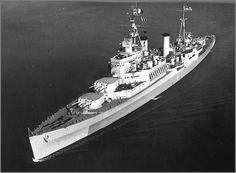 Light cruiser HMS Uganda, October 19th 1944.