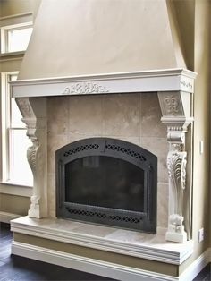 Cast Stone Fireplace Fireplace Is A Little Ornate But I Love The Extension Above The Mantle