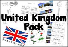 United Kingdom Printable Pack from royal baloo