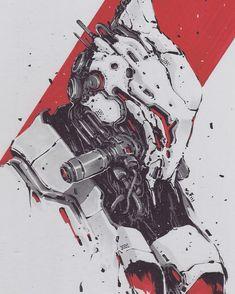 Inktober Art inspiration and artwork drawing Wallpaper High Quality, Character Concept, Character Art, Arte Cyberpunk, Robot Concept Art, Ex Machina, Copics, Sci Fi Art, Insta Art