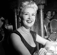 Actress Betty Grable at the Cocoanut Grove in Los Angeles California