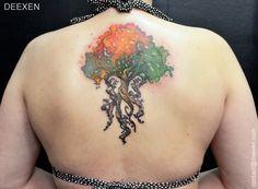 Autumn tree #Tattoo #Watercolor Deexen