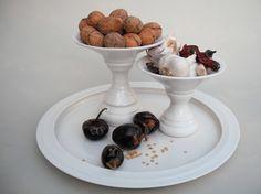 porcelain pedestals & plate: madelaine murphy