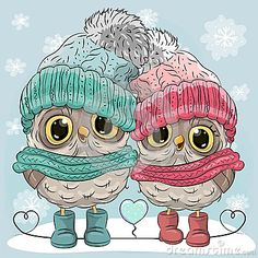 Cute Owls Boy and Girl
