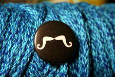 """$1.15  Moustache 1.5"""" pin!"""