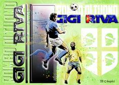 Omaggio a Gigi Riva Disegno + grafica photoshop Photoshop, Baseball Cards, Italy