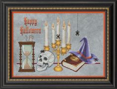 Spell Bound is the title of this Halloween cross stitch pattern from Glendon Place that is stitched with DMC threads.