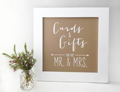 Wedding Card and Gift Table Sign Ink Drawn by TheCrookedTwig, $18.00