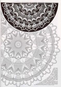 """Photo from album """"Дуплет on - Her Crochet Crochet Doily Diagram, Crochet Mandala Pattern, Crochet Chart, Thread Crochet, Filet Crochet, Crochet Doilies, Crochet Stitches, Crochet Patterns, Crochet Table Topper"""