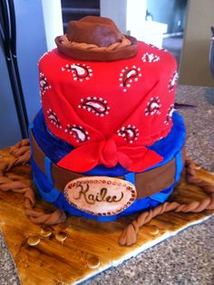 Western cake I did for a young girls High school graduation she loves horses