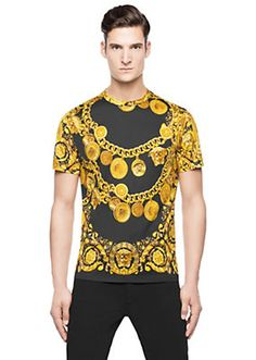 Versace - Chain And Coin Printed T-shirt