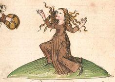 """Kalendarium, medizinische und astronomisch/astrologische Texte Johannes Birk (?): 'Stiftung des gotzhaus Kempten' (""""Karlschronik"""") Baumzucht Cgm 9470 Schwaben (Kempten?), 1499/um 1500 Folio 77r"""