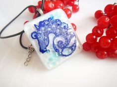 Horse Necklace. Horse Jewelry. Blue Glass jewelry. Fused Glass Horse. Horse lovers gift. Glass Horse.