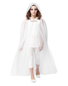 White Ghost Cape Child Costume at Spirit Halloween - You'll look eery in the White Ghost Cape Child Costume. This hooded, sweeping white cape has a hood and sheer detailing. Get this horrorific costume for Halloween for $17.99