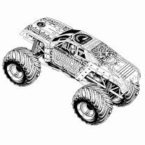 10 best monster truck coloring pages