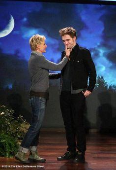Ellen Degeneres and Robert Pattinson