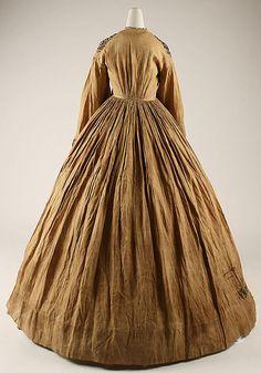 Wrapper, 1863, American or European, linen