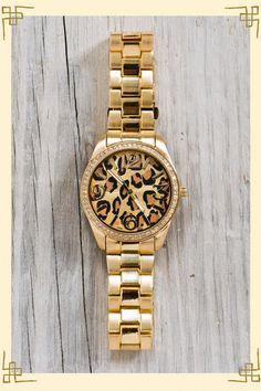 francesca's animal print watch