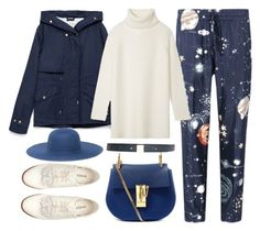 """""""to you"""" by jiabao-krohn ❤ liked on Polyvore featuring Valentino, Zara, Tory Burch, H&M, Chloé and Brooks Brothers"""