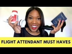 Flight Attendant MUST HAVES! Check out what every Flight Attendant must travel with in her carry-on from the best shoes, lipstick, luggage, hair spray PLUS MORE!