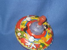 Antique 1940 50s Bryan Ohio Art Co Spinning Tin Toy Top Made in U s A   eBay