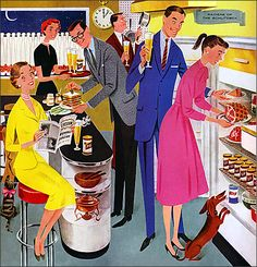 mid century space car | 1950s Unlimited - Schlitz Beer advertisement