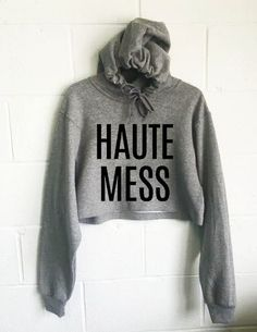 Haute Mess Cropped Hoodie