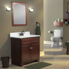 Foremost Columbia 30-in Single Bathroom Vanity in Cherry Review Buy Now