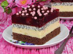 Ciasto Cherry - PrzyslijPrzepis.pl Sweet Recipes, Cake Recipes, Cupcake Images, Polish Recipes, Food Cakes, Homemade Cakes, Confectionery, Yummy Cakes, Sweet Tooth